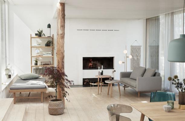 Hübsch nouvelle collection salon scandinave aux tons clairs et doux