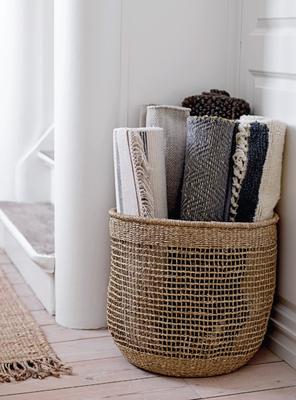 panier osier bloomingville textiles intérieur design al intérieurs