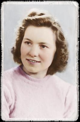 Oude portret foto gerestaureerd en ingekleurd