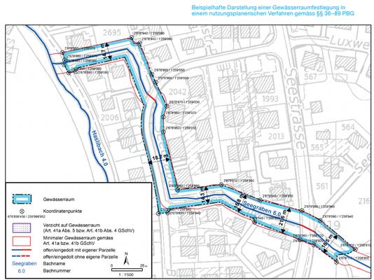Entwurf Gewässerraum am Seegraben in Niederhasli