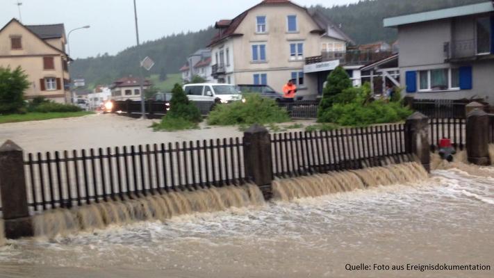 Überschwemmung vom 14. Juli 2015 in Rossrüti