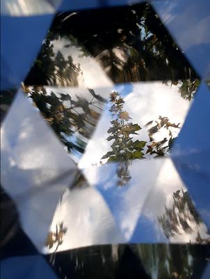"""Kaleidoskop """"offen"""",     Buchenholz,     ca. 5 x 15 cm,     CHF 40.-,     Lieferbar"""