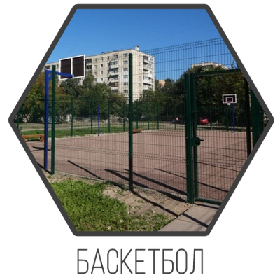 Ограждение для баскетбольных площадок