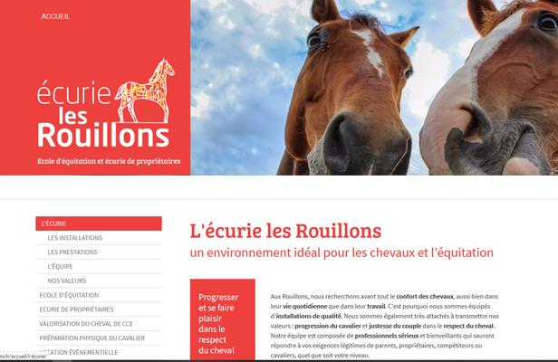 Création du site web de l'Ecurie les Rouillons