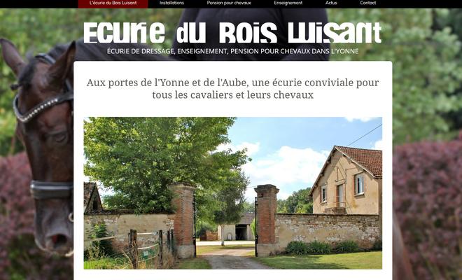 Création du site web Ecurie du Bois Luisant