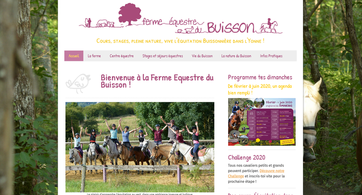 Création du site web de la Ferme Equestre du Buisson