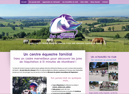 Création du site web Du vent dans les chevaux