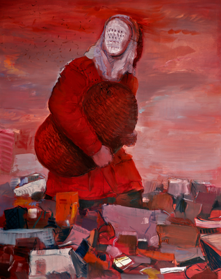 """""""Der Imker II"""" 2014-15 Öl auf Leinwand 200x160 cm"""