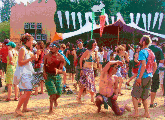 Tanz auf der Seebühne 2015 Öl auf Leinwand, 110x150 cm