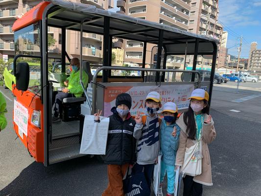 環境に優しい電動小型バス体験