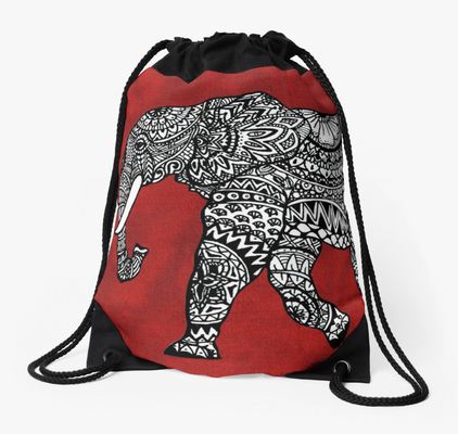 Turnbeutel mit Elefant