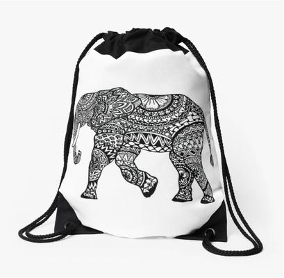 Rucksackbeutel mit Elefant