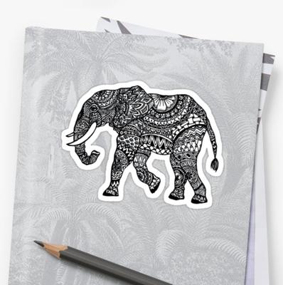 Sticker mit Elefant
