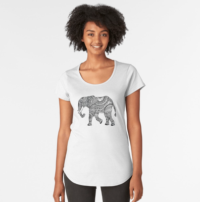 T-Shirt mit Elefant