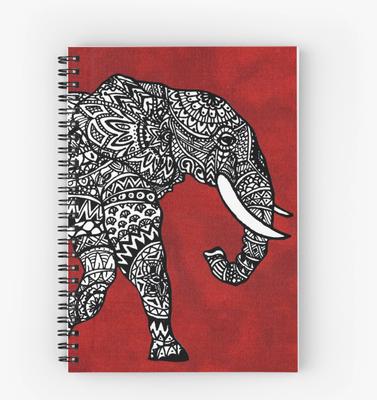 Spiralblock mit Elefant