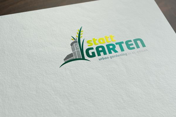 """urban gardening""-Projekt stattgarten, Logodesign"