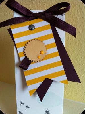 Tüte mit dem Punchboard für Geschenktüten - Patricia Stich 2016