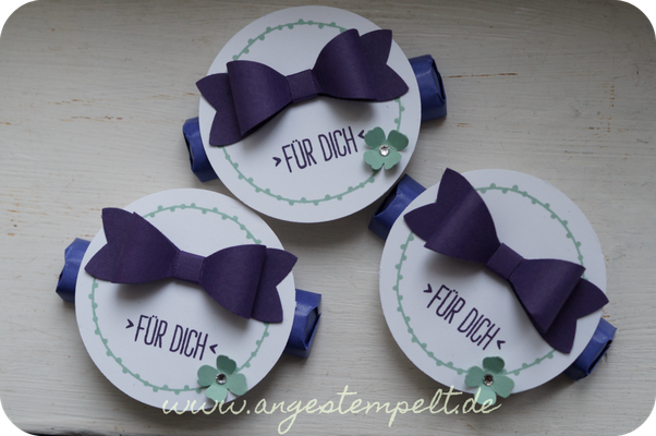 Goodies mit Stampin´Up! in aubergine und minzmakrone - Patricia Stich 2016