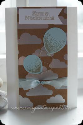 Himmelblaue Luftballons für´s Baby - Patricia Stich 2016