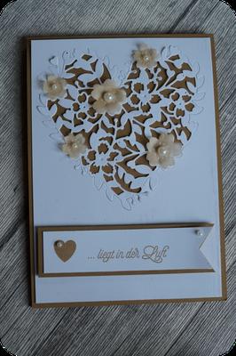 Von Friederike hat jede eine Karte mit dem blühenden Herz bekommen - dankeschön