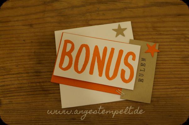Bonus für Einkäufen von Stampin´Up!-Artikeln ab 75€ - Patricia Stich 2016