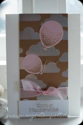 Zartrosa Luftballons zur Geburt - Patricia Stich 2016