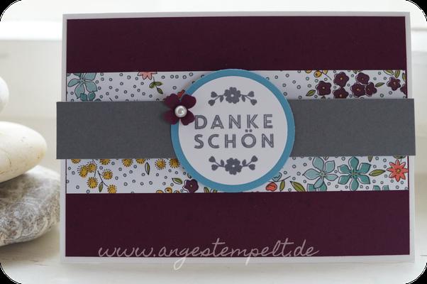 Dankeschön in Kartenform mit brombeermousse - Patricia Stich 2016