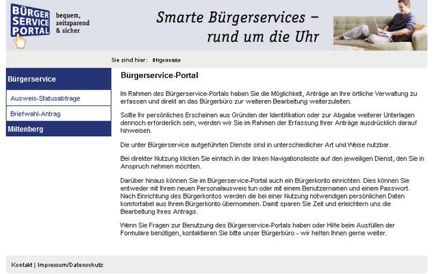 Online Dienste Stadt Miltenberg