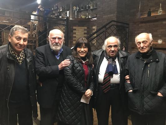 ジョージアの芸術界の重鎮たち 俳優、画家、作曲家、メロディアの敏腕エンジニア・・