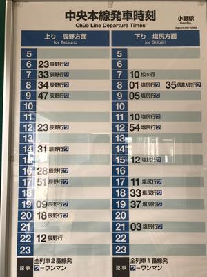 Please check your return train schedule beforehand. (帰路の電車の時間を先に確認)