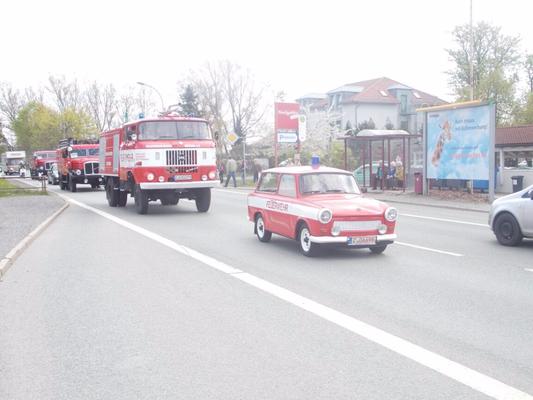 Trabant zum Oldtimerkorso anlässlich des 20. Oldtimertreffens in Werdau