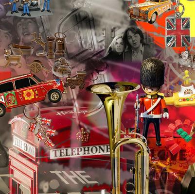 """Detalles de la ilusión óptica del Mural """"Beatles"""""""