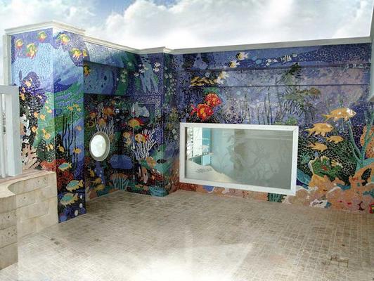 Zona Social  Mosaico en cerámica