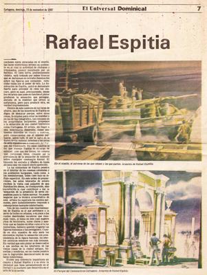 """""""Acuarela por Rafael Espitia"""" Reportaje por Jaime Gomez Obyrne"""