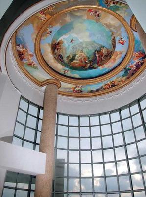 """Salón Principal Cúpula """"El Olimpo"""" acrílico sobre muro"""