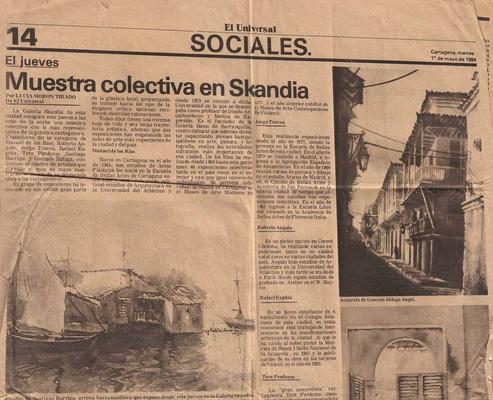 Muestra colectiva en Skandia.  El Universal por Lucia Moron Tirado