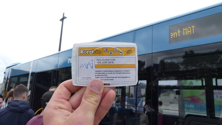 Pour l'inauguration, une série spéciale des cartes KorriGo MAT a été émise.