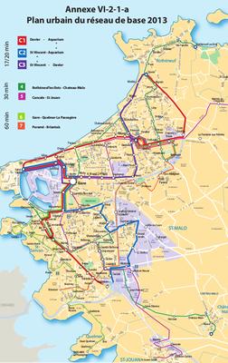 Le projet de réseau urbain utilisé comme base de réponse par les candidats lors de l'appel d'offre de 2013.