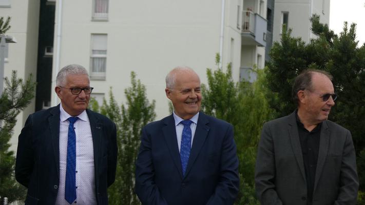 Gérard Lahellec, Claude Renoult et René Bernard.