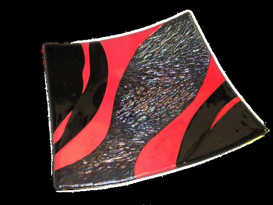 plat rouge et noir structuré