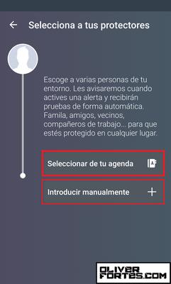 """Paso 6: Entra en la primera opción """"Seleccionar de tu agenda"""", te abrirá tu lista de contactos."""