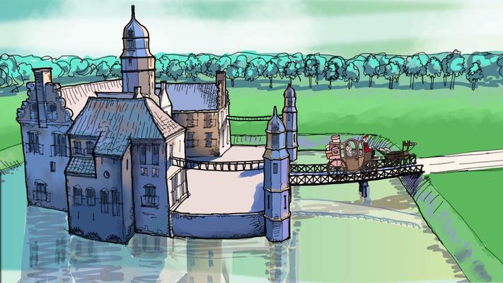 De Fraeylemaborg - De geschiedenis van het Slochterdiep