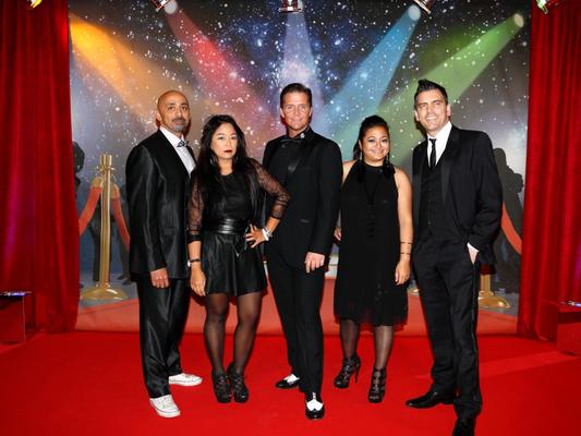 tourage Quintett mit Toy Potts, Venus Louis, Carsten Heinze, Oliver Fischer und Gina TaPerla