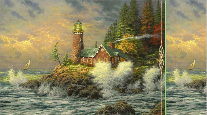 Море, маяк, парус