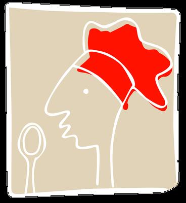 "Restaurant ""Drogerie"", Logo - Signet Kochschule"