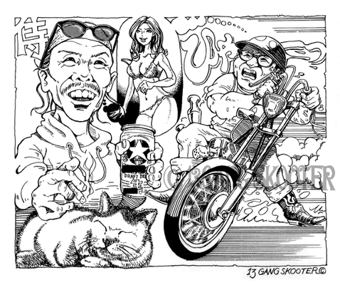 VIBES MAGAZINE トラブルチャンプリターンズ 2015年11月号一コマ漫画
