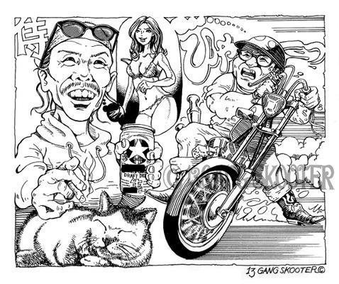 VIBES MAGAZINE トラブルチャンプリターンズ 2015年11月号1コマ漫画