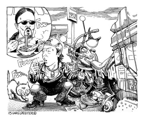 VIBES MAGAZINE トラブルチャンプリターンズ 2015年4月号1コマ漫画