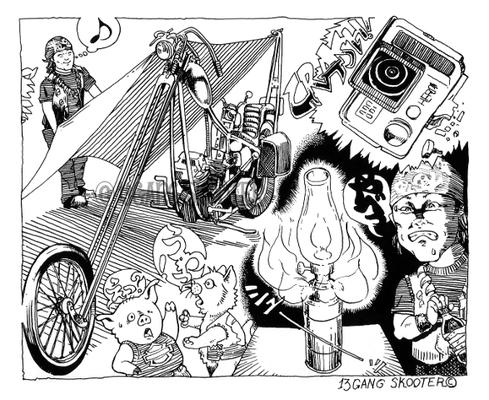 VIBES MAGAZINE トラブルチャンプリターンズ 2015年10月号一コマ漫画
