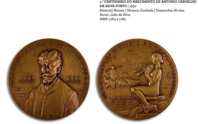 João da Silva - Medalha 1º centenário do nascimento António Carvalho da Silva Porto
